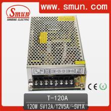 120W 5V / 12V / -5V Fonte de alimentação comutada de saída tripla