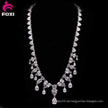 Charming White Stone Gold gefüllt Hochzeit Halskette