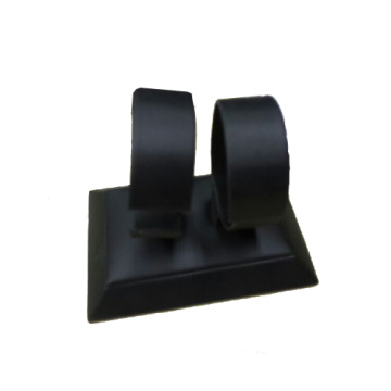 Popular Black PU Double Watches Holder Stand Base (WS-2W-BW1)
