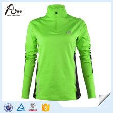 Atacado Plus Size Hemp Running Shirts Running Wear para Mulher