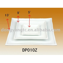 Custom logo white ceramic plate sets