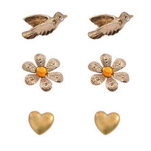 Suit Stud Earrings, Various Designs are Available, Made of Zinc Alloy and Rhinestones
