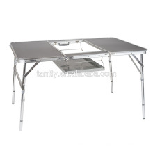 Popular camping furniture easy carry folding table aluminum table