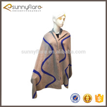 Women's cashmere winter warm knitted long shawls