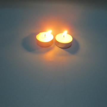 Pure wax10g  white unscented tea light candle