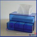Gavefa de armazenamento de acrílico facial / Cosmetic Organizer Box W / Tissue Dispenser