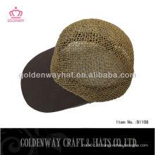 Chapeau de baseball de paille naturelle populaire chapeau de garçon pauvre