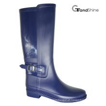 Mulheres de PVC Horse Riding High Boot