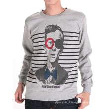 Cool Man Black Design Impressão Atacado Moda Masculina Algodão T-Shirt