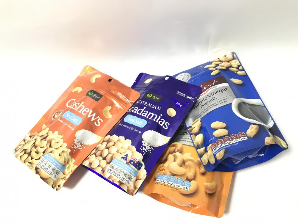 Afgedrukte resealable cereal Packaging bag