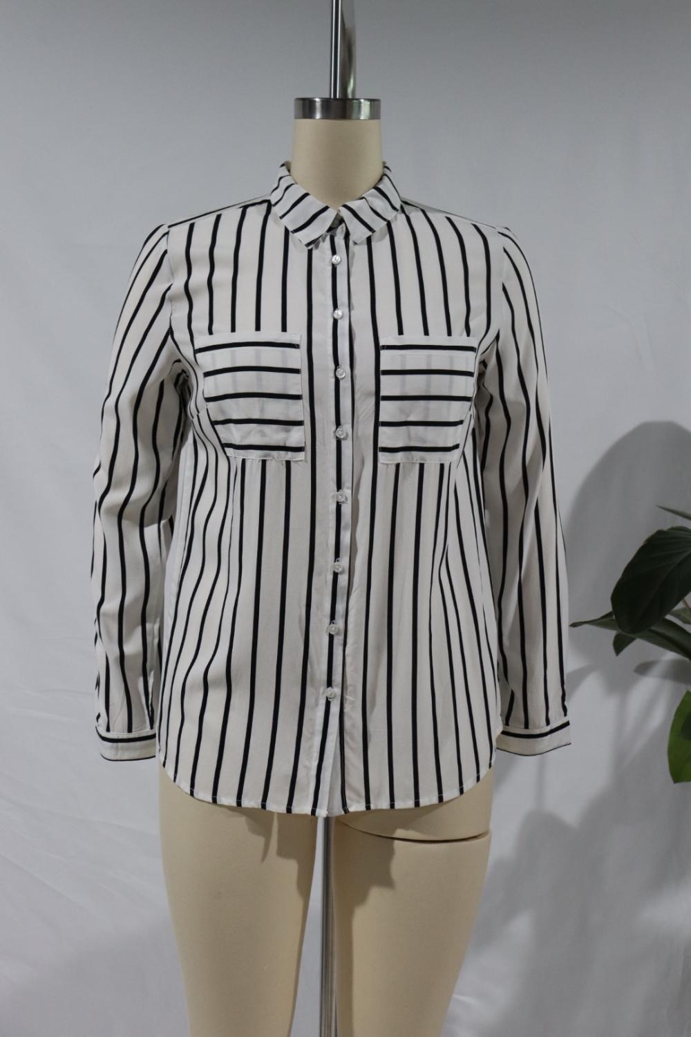 Printed Shirt With Long Sleeves And Standing Collar