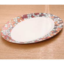 Bamboo Fiber Tableware Plate with Print (BC-P1012)