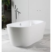 Белая автономная акриловая ванна