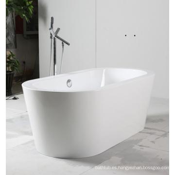 Bañera de acrílico blanca independiente
