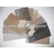 High temperature resistant non-sticky PTFE teflon coated fiberglass mesh