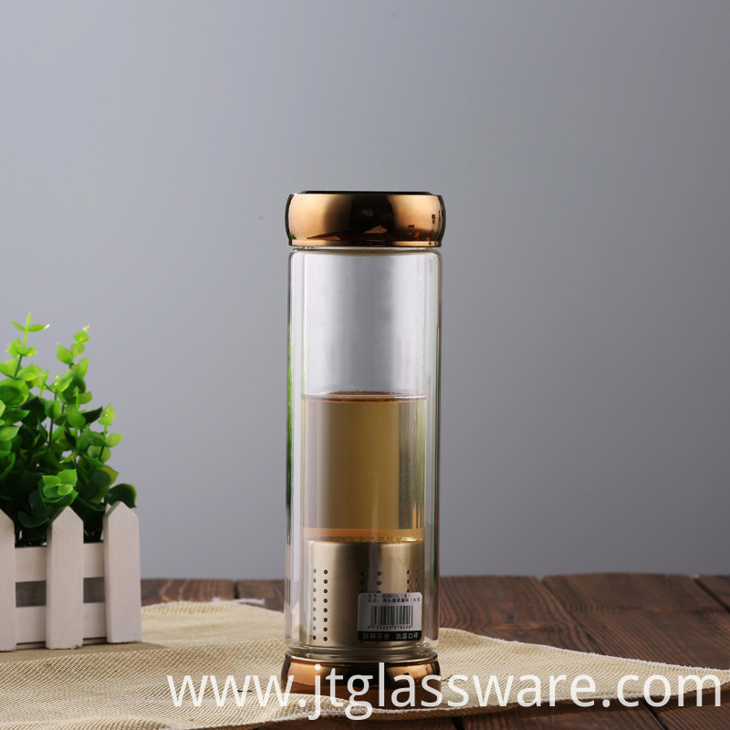Glass Bottle Tea Tumbler