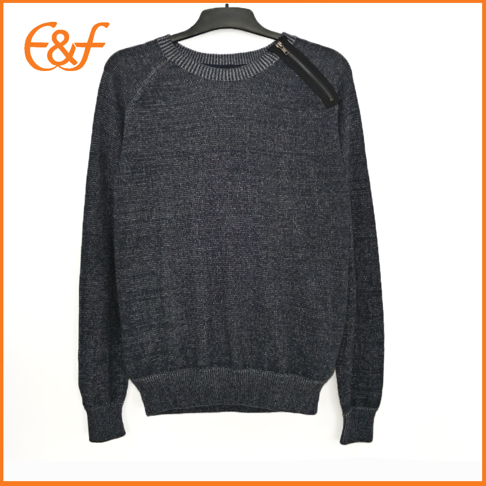 Western Style Zipper Raglan Sleeves Winter Sweaters