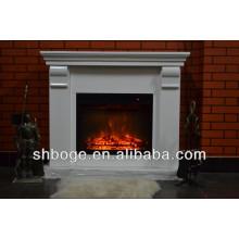 good artistic brown oak wooden antique finished fireplace mantel