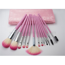 13PCS Conjunto de escova bonito da composição com um malote cor-de-rosa