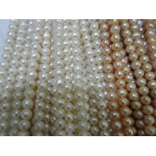 11-12mm Fast Round Natural Pearl Strands (ES388)