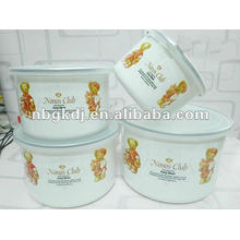 enamel bowl sets with PP lid