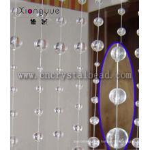 Decoración para el hogar atractivo cristal venta por mayor bolas de cristal cortina