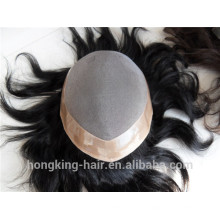 Natural Looking Best Quality Brazilian Human Hair Toupee Replacement Wigs for Men