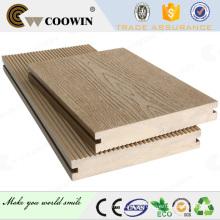 Madeira wpc grão decking, composto de madeira, piso de pvc ao ar livre