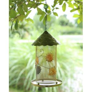 Hanging type feeding bird feeder