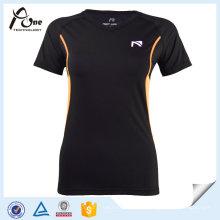 Mulheres Nylon Spandex T-Shirt Fitness Wear