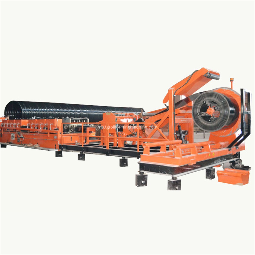 Dipasang Culvert Pipe Corrugated Panel Roll Forming Machine