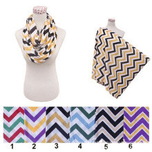 100% organic Comfortable Multifunctioncottonal Safe skin mom nursing chevron infinity cover breastfeeding scarf