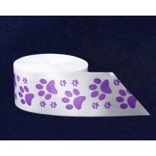 Cinta de raso personalizada para cumpleaños, boda decoración personalizada impresa de la cinta, cualquier insignia, cualquier estilo de fuente