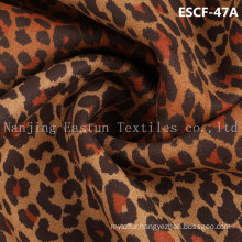 Print and Golden-Plating  Suede Fabric Escf-47A