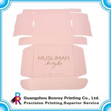 Цветастое печатание коробки бумаги Kraft упаковывая для платья с ручкой тесемки