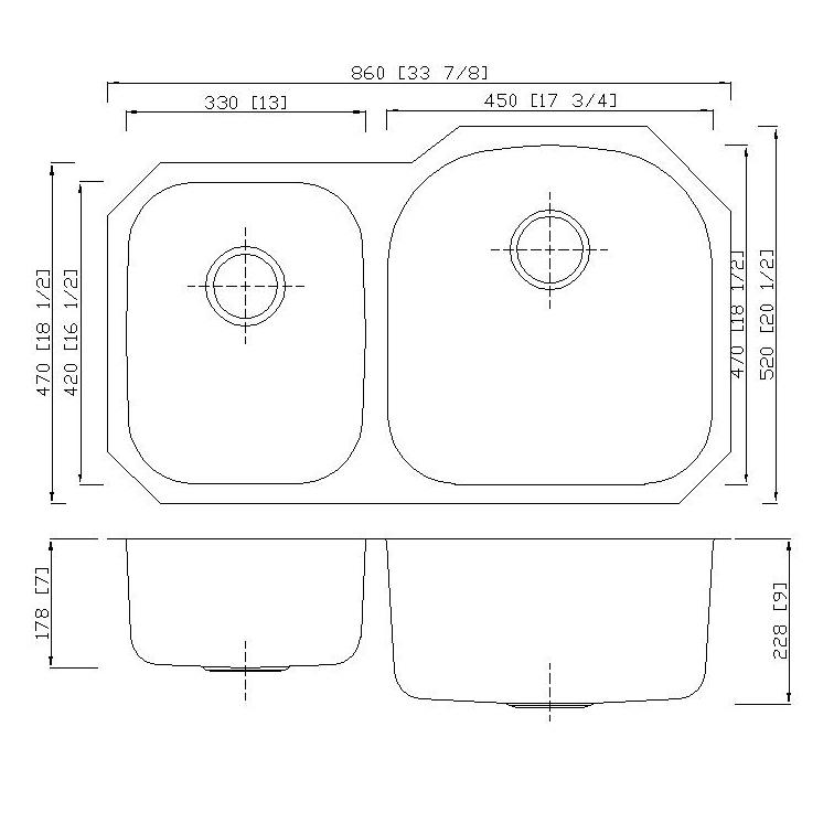 Stainless Steel Sink 8652al