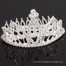 Último accesorio cristalino accesorio del pelo de la tiara del pelo de la joyería de la manera