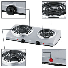 Poêle électrique de plaque chauffante d'acier inoxydable 430 de cuisson pour la vente en gros