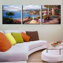 3 painéis modernos decoração lona impressão à venda