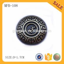 MFB108 Moda botão tipo snap zinco aliado gofrado metal jeans botão fornecedor