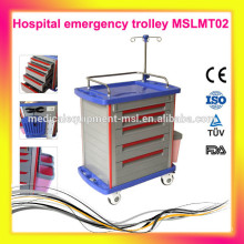 Gorgeous Hospital emergency trolley MSLMT02-M, using the best ABS material.