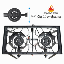 Auto ignition double burner stove