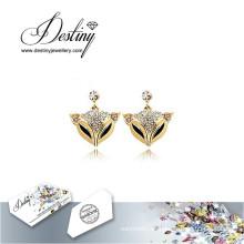 Destino joyas cristales de Swarovski pendientes pendientes de Fox