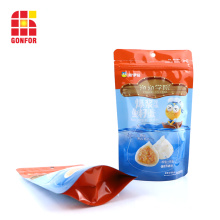 pochette sur mesure pour fruits de mer avec fermeture à glissière et support