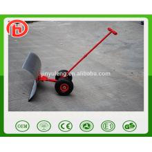 Einstellbare Griff Push Schneeschaufel mit Rad Werkzeugwagen