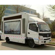 Alta qualidade Foton mini levou caminhão palco móvel, 4x2 levou caminhões de publicidade móvel para venda