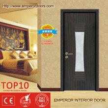 WPC imperméable à l'eau respectueux de l'environnement porte intérieure pour chambre à coucher salle de bains