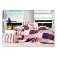 100 Baumwolle 40s 128 * 68 Luxus Soft-Qualität Pigment Druck Baumwolle Satin Bettwäsche