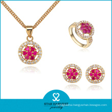 Gold Plating 925 Sterling Silver Jewelry Set for Decoration (J-0040)