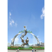 Moderne große berühmte Kunst Edelstahl Tier Skulptur für Garten Dekoration